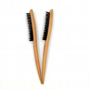 Vendita calda Teasing Torna spazzole per capelli in legno Slim Line Pettine Spazzola per Extension saloni Stuzzicare Styling Tools