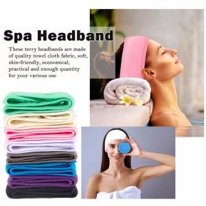 Soft Spa Wrap Head Band Stretch Terry Cloth Facial Headband for Face Wash