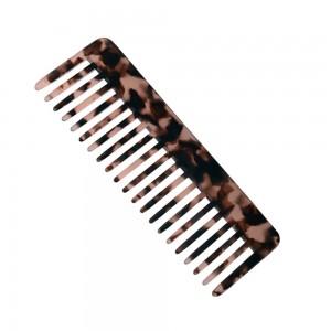 Wide tooth hair comb acetate handmade acetate combs