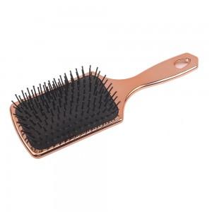 Professional Plastic Bling Cushion Paddle Hair Brush with Nylon Bristle
