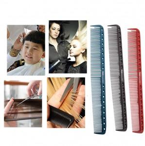 Anti static comb salon hair straighten tools carbon fiber hair comb