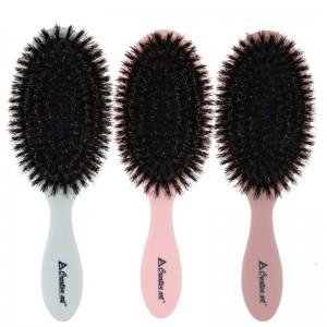 Gi Steel Plate Detangling Comb - Top selling customized plastic boar bristle hair brush,oval paddle hair brush wholesale – QiLin