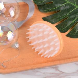 Hair scalp massager bath brush durable and soft pin swan silicone shampoo brush