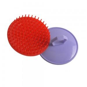 Promotion cheap price simple scalp massage hair brush/clean shampoo brush