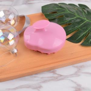 Hair and dandruff health care shower brush pink oval shampoo brush