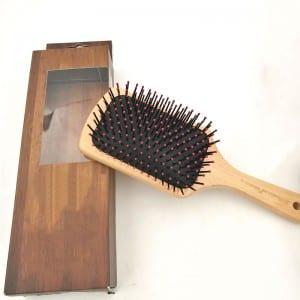 Hair Scalp Massage Hair Brush Detangle Wet HairBrush Bamboo Boar Bristle Hair Brush