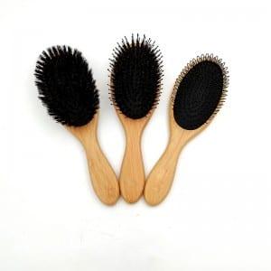 Gi Steel Coil Afro Comb - Factory supply custom bamboo handle professional bamboo hair brush – QiLin