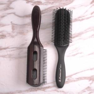 Salon barber 9 row hair brush vent scalp masagge hair brush