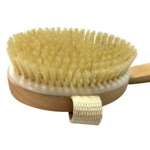 2020 hot sale long handle detachable body brush  boar bristle wooden brush
