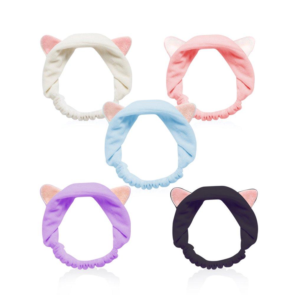 Cute Cat Ears Headbands, Elastic Lovely Hair Band, Spa Shower Face Washing Hairband Facial Headband Make Up Wrap Head Band Featured Image