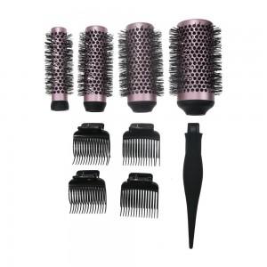 Tin-Plate Plate Natural Hair Brush - 100% Original Factory Hair Rolling Brush – QiLin