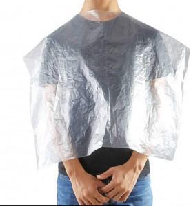Cheap price disposable Hair cutting hairdressing salon cape disposable bib disposable PE cape for hair salon,home