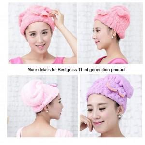 Hair Towel Wrap Turban Microfiber Drying Bath Shower Head Towel Cap