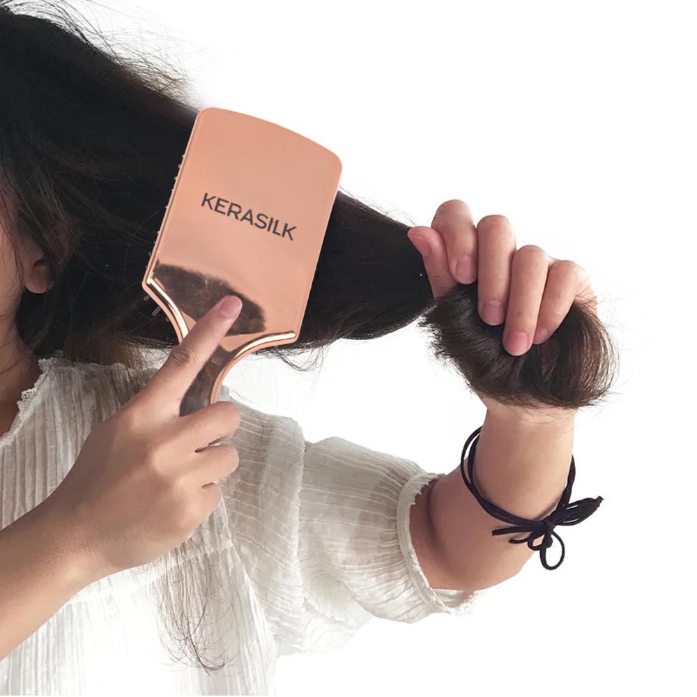 Professional Plastic Bling Cushion Paddle Hair Brush with Nylon Bristle Featured Image