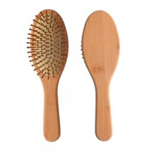 Natural color bamboo paddle cushion brush wooden pin hair massage hair brush