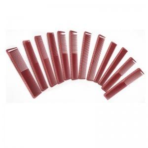 Corrugated Alu-Zinc Steel CombBulk - barber equipment and supplies Hairdressing hair Salon cutting Carbon barber comb set – QiLin