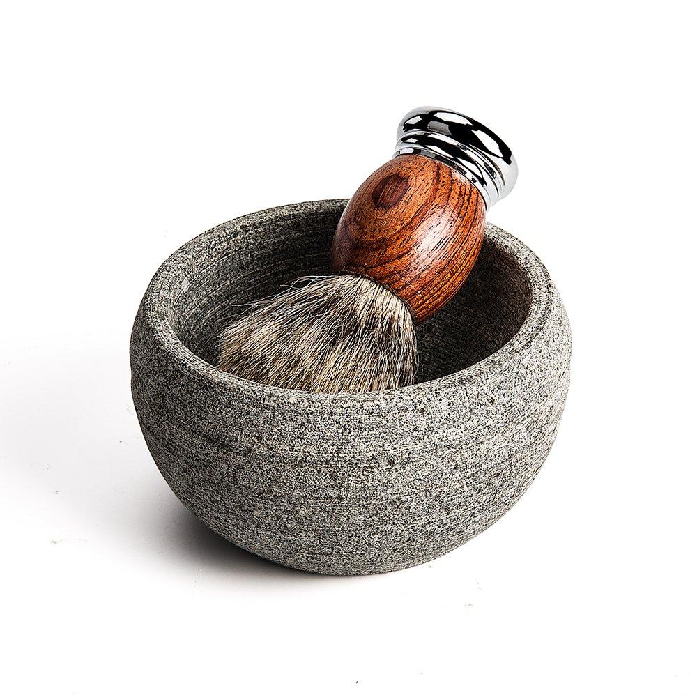 Beauty Tools Red Pear Wood Handle Soft Bristle Hair Men Beard Makeup Shaving Brush Featured Image