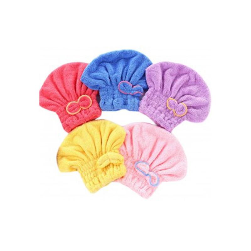 Hair Towel Wrap Turban Microfiber Drying Bath Shower Head Towel Cap Featured Image