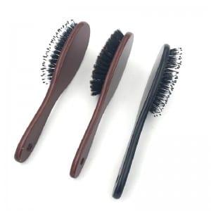 Natural Boar Bristle Hairbrush Massage Comb Anti-static Hair Scalp Paddle Brush Beech Wooden Handle Hair Brush