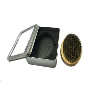 oval shape beard brush wooden hair brush
