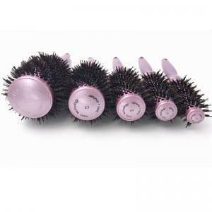 Professional Plastic Handle Nylon Salon Hairdressing Ionic Ceramic Aluminium Tube Round Hair Brush Short Description: