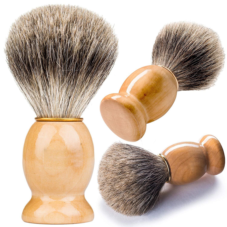 Soft Bristle private label beard brush wood handle barger hair shaving brush For Men Featured Image