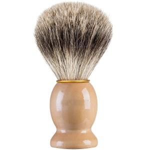 Soft Bristle private label beard brush wood handle barger hair shaving brush For Men