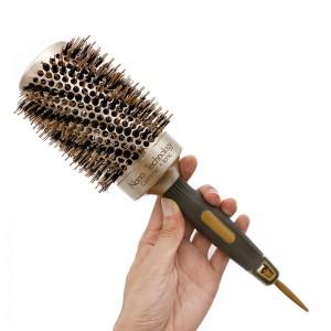 Nano Thermal Ceramic Hair brush Ionic Round Hair Brush with Boar Bristle