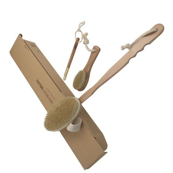 2020 hot sale long handle detachable body brush  boar bristle wooden brush Featured Image