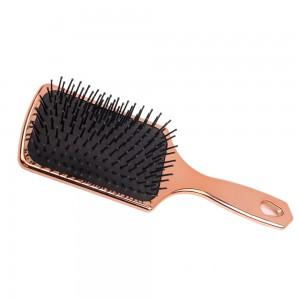 2020 Wholesale Massage Electroplating Mini Paddle CushionDetangling Hair Brush