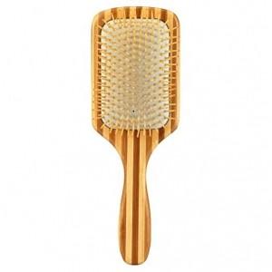 Square shape cushion paddle brush zebra pattern bamboo hair brush