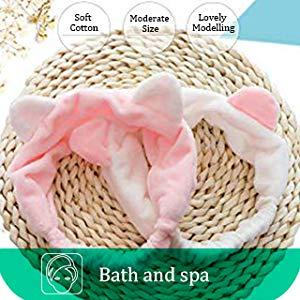 Cute Cat Ears Headbands, Elastic Lovely Hair Band, Spa Shower Face Washing Hairband Facial Headband Make Up Wrap Head Band