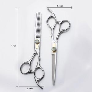 6.5 inch new fashion design beauty barber scissors flat scissors tooth 6.5 inch Hair scissors set