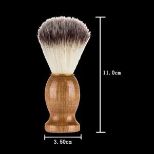 China Wholesale Soft Bristle private label beard brush wood handle horse hair shaving brush For Men